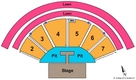 White Oak amphitheater seating chart