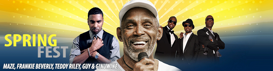Greensboro Spring Fest: Maze, Frankie Beverly, Teddy Riley, Guy & Ginuwine at White Oak Amphitheater