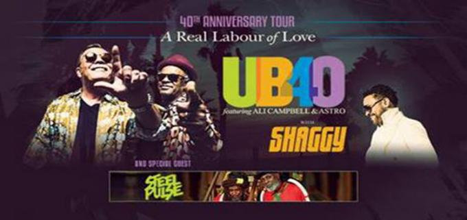 UB40's Ali and Astro & Shaggy at White Oak Amphitheater